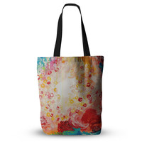 "Ebi Emporium ""Summer Days"" Red Tan Everything Tote Bag"