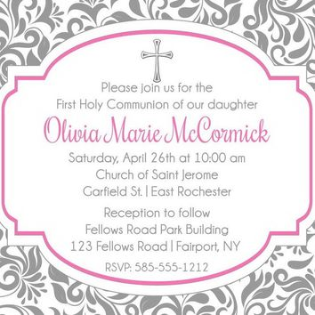 Girl First Holy Communion Invitations
