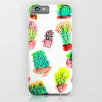 Colored Cactus iPhone & iPod Case by Yuval Ozery