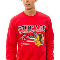 Mitchell & Ness The Chicago Blackhawks Crewneck Sweatshirt in Red : Karmaloop.com - Global Concrete Culture