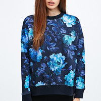 House of Hackney Midnight Peony Dolman Sweatshirt in Blue - Urban Outfitters
