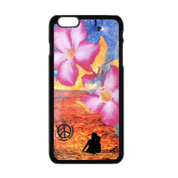 iPhone 6, iPhone 6 Plus Cases, INDIAN SUMMER, iPhone6, Flowers, Surfing, Hawaii, Ocean, Best Seller, Avail. with Black or White Sides