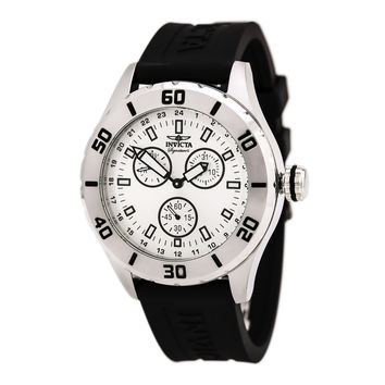 Invicta 7053 Men's Signature II Silver Dial Black Rubber Strap Watch