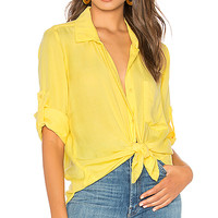 Bella Dahl Long Sleeve Shirt Tail Button Down in Cornsilk | REVOLVE