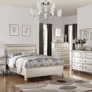 Bobkona 5pc Bedroom Set Silver 2017
