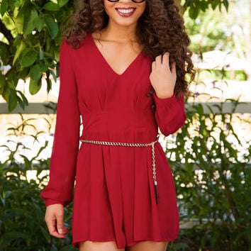 Racing Hearts Romper - Burgundy