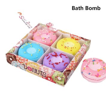 Box of Donuts Bath Bombs - Natural Sea Salt strawberry, blueberry, grape, lemon bath bomb