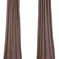 River Rock Grey Cotton Twill Curtain - traditional - curtains - by Half Price Drapes