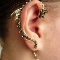 Gothic Punk Dragon Bite Ear Cuff Earring