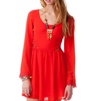 RIVERBREEZE CROCHET CUTOUT DRESS