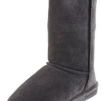 "BEARPAW Women's Emma2014 10"" Shearling Boot,Black II,8 M US"
