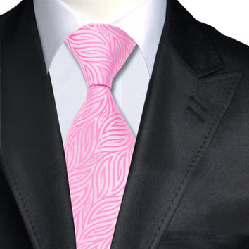 Ties Pink Novelty Neck Tie 100% Silk Jacquard Ties For Men Business Wedding Party