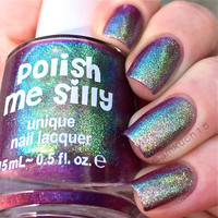 Multichrome (Lator Gator))  Multi-Color Shifting Polish:  Custom-Blended Glitter Nail Polish / Indie Lacquer / Polish Me Silly