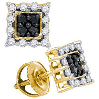 Diamond Fashion Earrings in 10k Gold 0.54 ctw