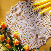 Valentine's Day Crochet Hearts Doily 18 inches, Lace Crochet, Crochet Tablecenter