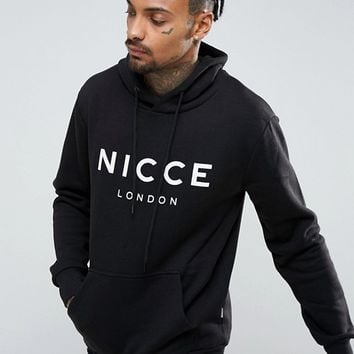 Nicce London Hoodie In Black With Large Logo at asos.com