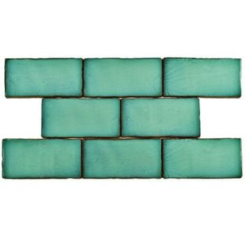 Merola Tile Antic Special Lava Verde 3 in. x 6 in. Ceramic Wall Tile (1 sq. ft. / pack)-WCVASL - The Home Depot