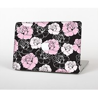 The Pink and Black Rose Pattern V3 Skin for the Apple MacBook Air 13""