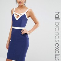 Paper Dolls Tall | Paper Dolls Tall Bodycon Dress With Contrast Strap Detail at ASOS