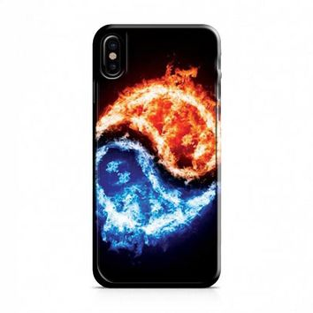 Yin Yang fire and ice iPhone X Case