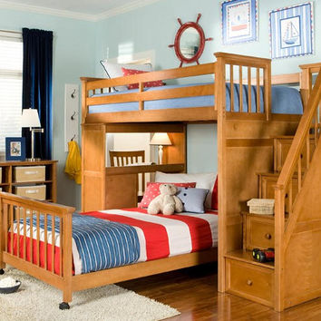 Thomas Twin Size Stairway Loft Bed