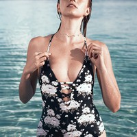 Cupshe Flourishing Star Print One-piece Swimsuit