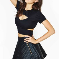 Reformation For Nasty Gal Close Encounter Crop Top