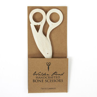 Walden Pond Hand-Carved Bone Scissors from Two's Company | BURKE DECOR