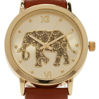 Elephant Analog Watch