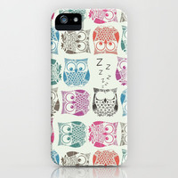light sherbet owls iPhone Case by Sharon Turner | Society6