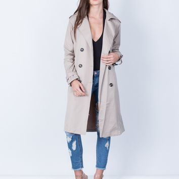 Double Breasted Trench Jacket