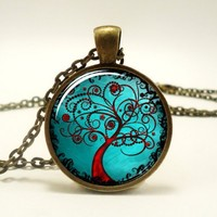 Tree Of Life Pendant, Woodland Jewelry, Bronze (0368B1IN) | CellsDividing - Jewelry on ArtFire