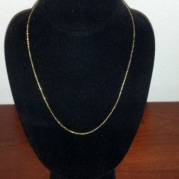 """NEW  14K GOLD 20"""" Chain Necklace VicenzaGold Polished Oval Forzatina YELLOW GOLD"""