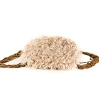Lanvin Gold Chain Mongolian Fur Purse