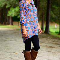 Toy With You Tunic, Blue