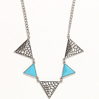 With Love From CA Silver Turquoise Triangle Necklace at PacSun.com