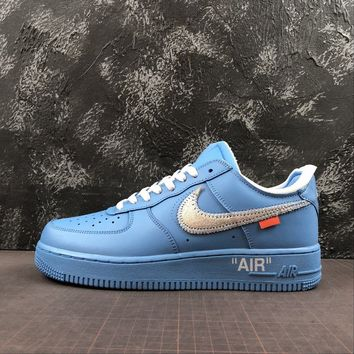 """Off-White x Nike Air Force 1 Low """"University Blue"""" """"MCA Chicago"""" - Best Deal Online"""