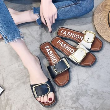 Fashion New Trend Women Ladies Girls PU Summber Flat SANDALS TEVA Beach Slippers