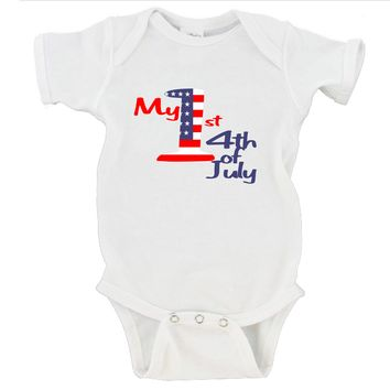 1st 4th of July Gerber Onesuit ®