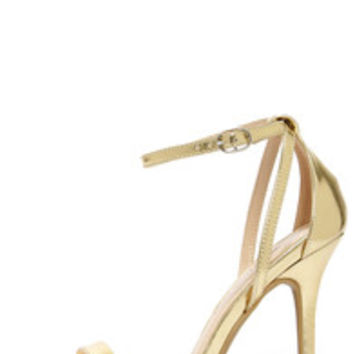 Glam Squad Gold Ankle Strap Heels