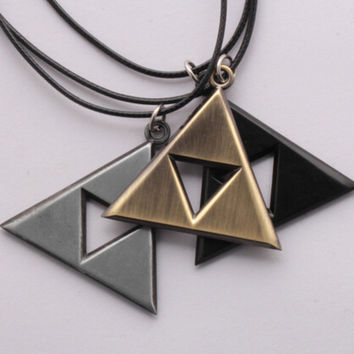 The Legend of Zelda Triangle Metal Pendant Necklace Anime
