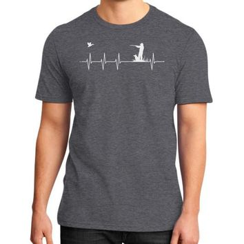 Duck Hunting Heartbeat District T-Shirt (on man)