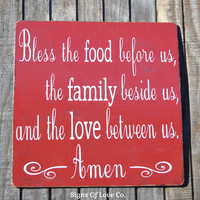 Kitchen Elegant Rustic Designs Bless The Food Before Us Wood Sign Kitchen Decor Plaque Religious Scripture Verse Dining Room Signs Thanksgiving Christmas