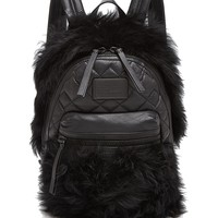 MARC BY MARC JACOBSDomo Biker Fur Backpack