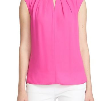 CeCe by Cynthia Steffe Keyhole Detail Crepe Blouse | Nordstrom