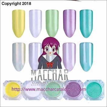 Mirror Pearl Mermaid Nail Glitters 2g Shimmer Pigment Powder Makeup Manicure Nail Art Dust for Nail Art Decoration