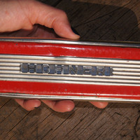 1930's Hohner Harmonica, Art Deco, Key of C and G