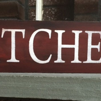 Kitchen Distressed Wooden Sign
