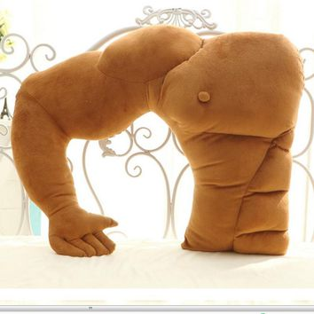 1Pc Fashion Muscular boyfriend arm pillow massager shape large pillow cushions pillow girlfriend birthday gift graduation gift