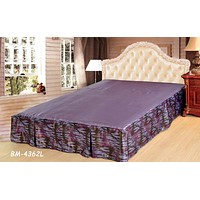Tache Mixed Purple Bed Skirt (BSK-4362L)